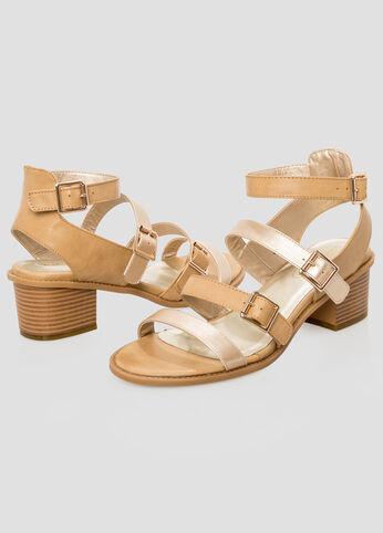 Chunky Heel Sandal - Wide Width
