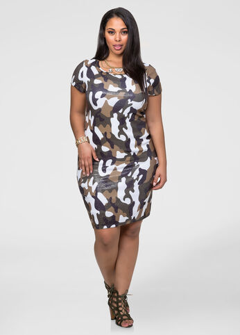 Sequin Camo Dress