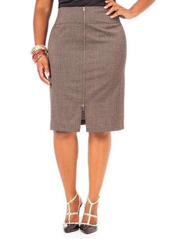 Back Zip Pencil Skirt