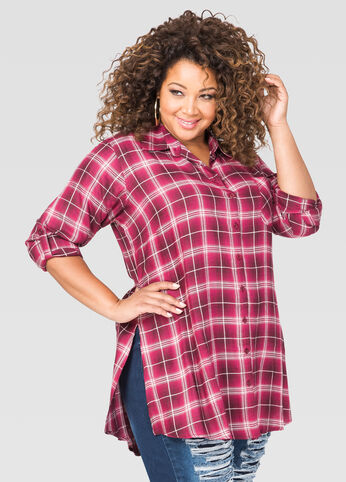 Red Plaid Tunic