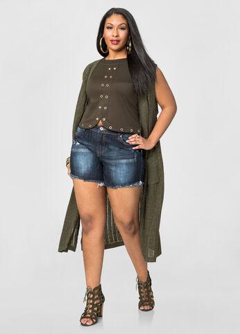 5 Frayed Jean Shorts