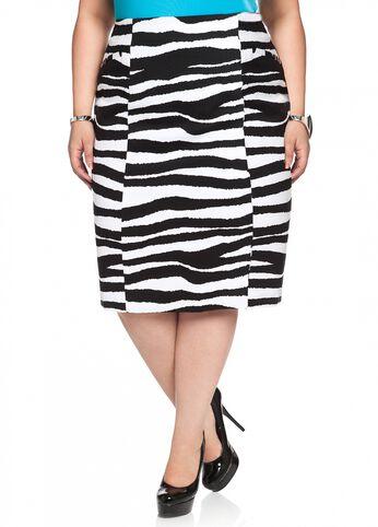 Zebra Pique Skirt