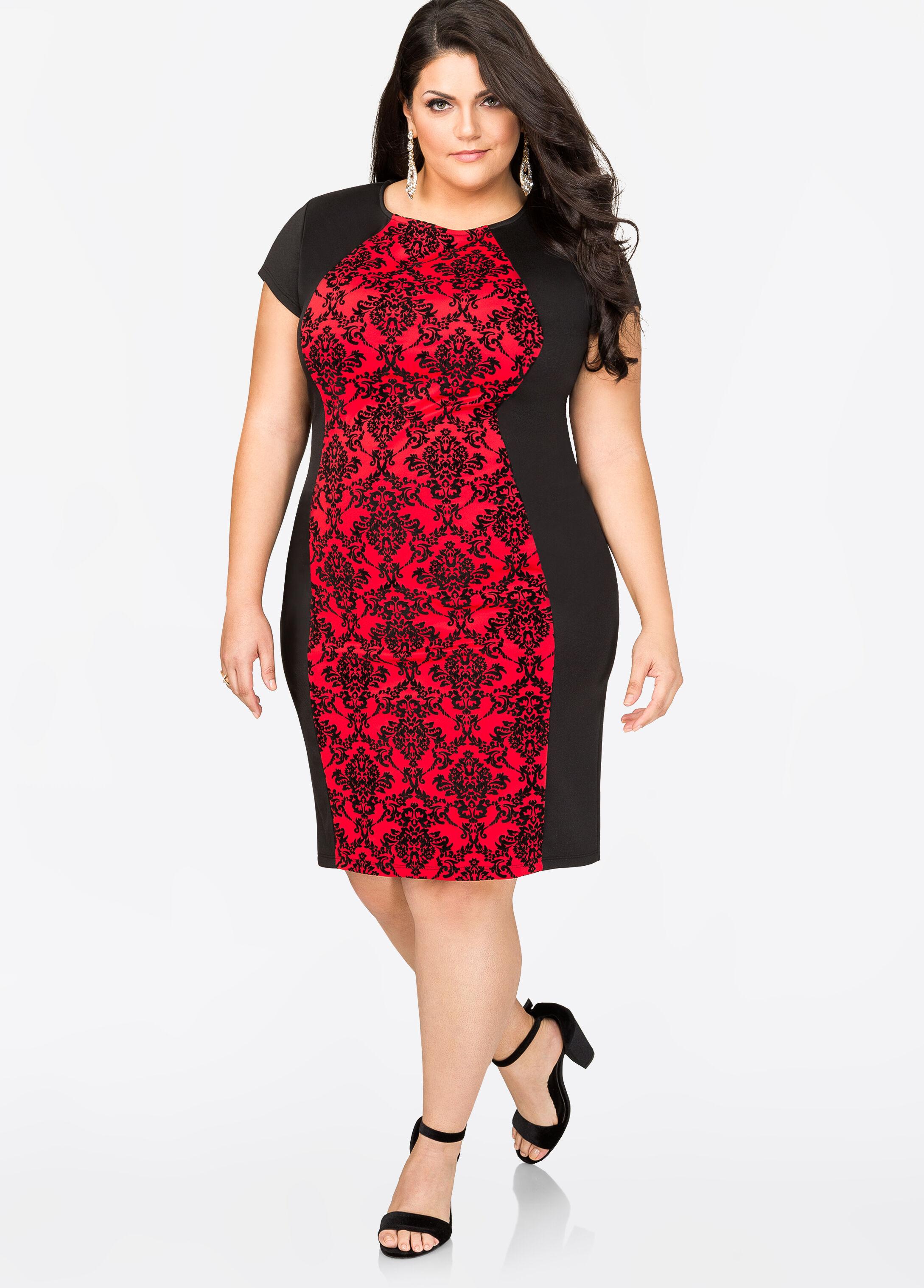 Fee g red dress night