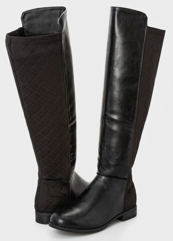 Mixed Media Stretch Back Tall Boot - Wide Width Wide Calf