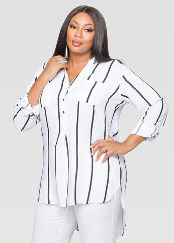 Striped Popover Tunic