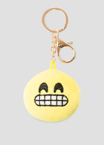 Excited Emoji Handbag Charm