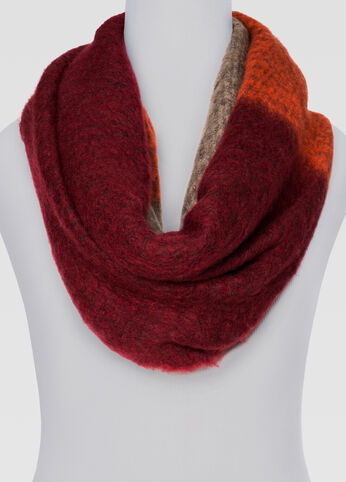 Brushed Tri-Color Infinity Scarf