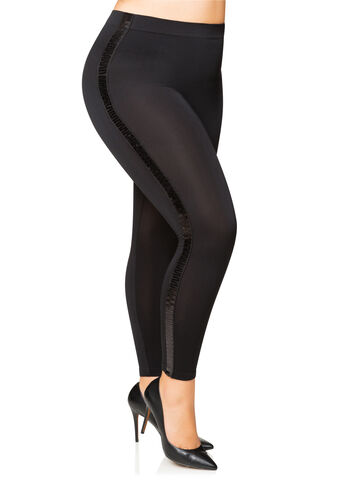 Sequin Stripe Seamless Legging