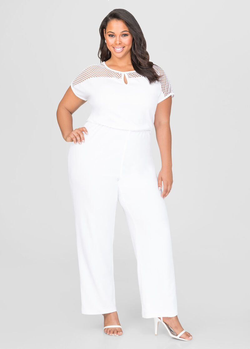 New Plus Size Zip-Up Jumpsuit in White Multi Color Leaf Print. $ Quick View. Final Sale Plus Size Sleeveless Jumpsuit with Open Back and Mesh Knee in Black and White with Neon Pink Trim. $ Quick View. New Plus Size Strapless Jumpsuit with Ruffle Layered Top and Attached Tie in Multi Color Striped Leaf Print.