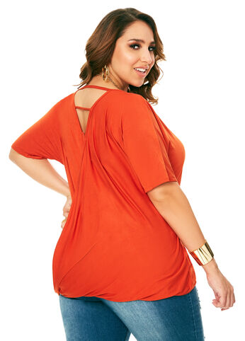 Twist Cage Back Top