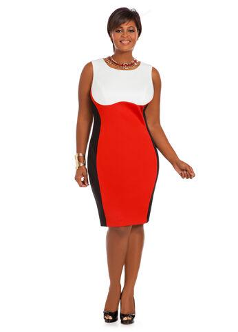 Tri-Tone Color Block Dress