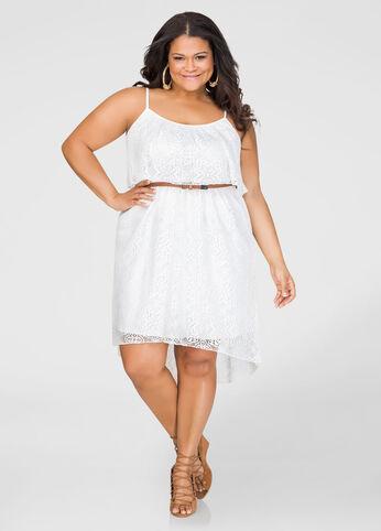 Crochet Hi-Lo Dress