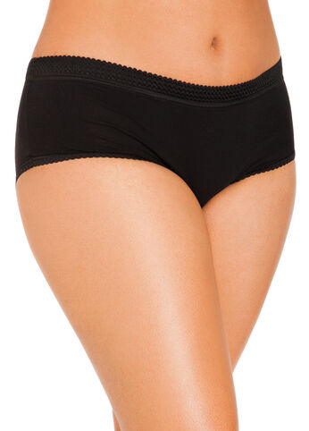 Black Cotton Full Coverage Briefs