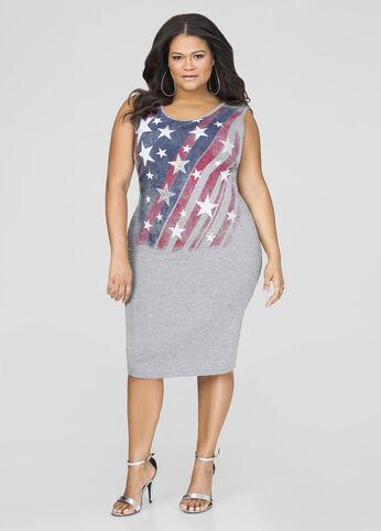Sequin Stars T-Shirt Dress