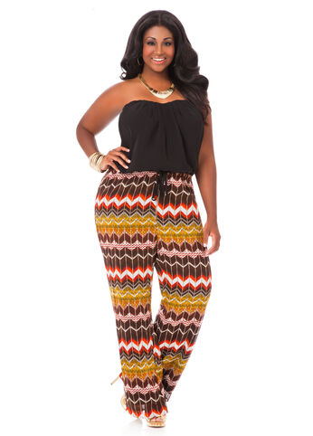 Printed Palazzo Jumpsuit