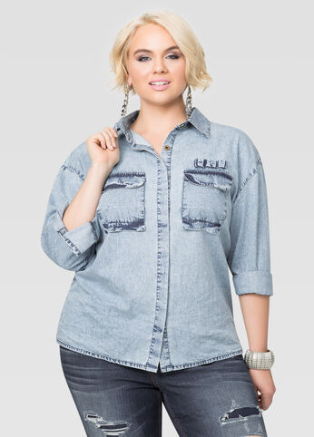 Flap Pocket Denim Shirt