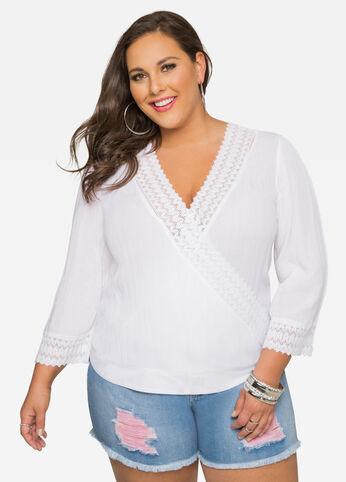 Gauze Crochet Lace Top
