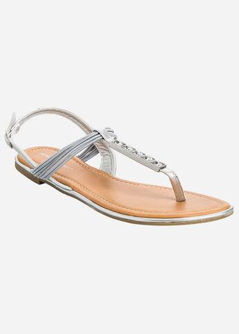 T-Strap Jewel Sandal - Wide Width