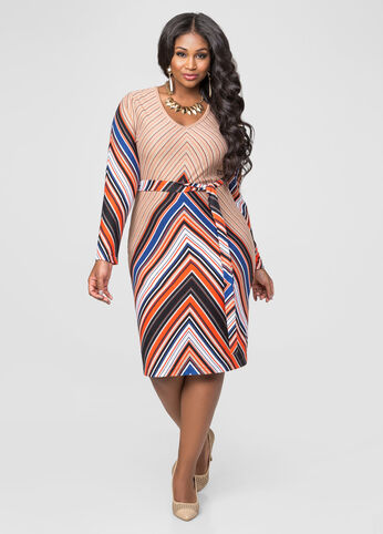 Chevron Hacci Sweater Dress