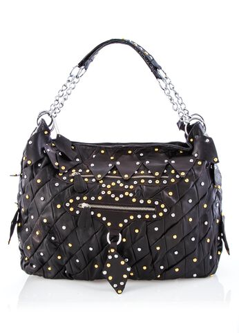 All-over Studded Leather Hobo