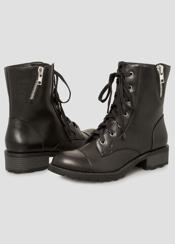 Patent Combat Boot - Wide Width