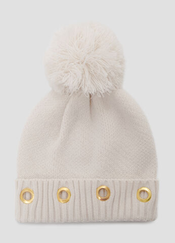 Grommet Cuff Beanie Hat at Ashley Stewart