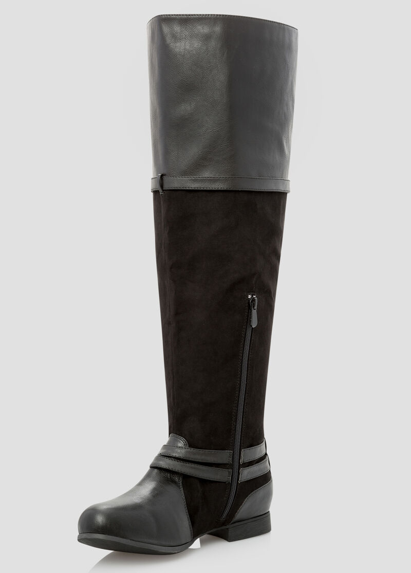 Wide Width Wide Calf Over The Knee Boot-Wide Width Boots-Ashley