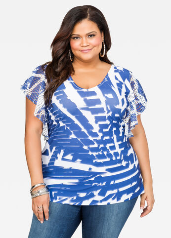 Mesh Sleeve Sublimation Top