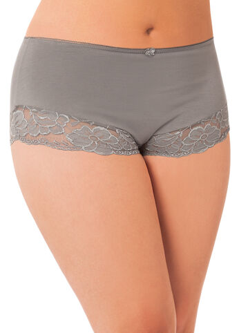 Cotton and Lace Trim Panty