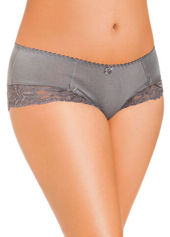 Grey Gables Lace Trim Boy Leg Panties