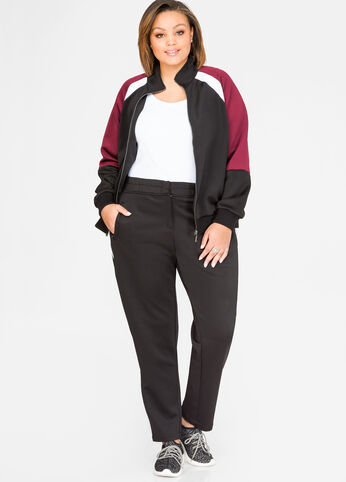 Striped Zip Leg Track Pant