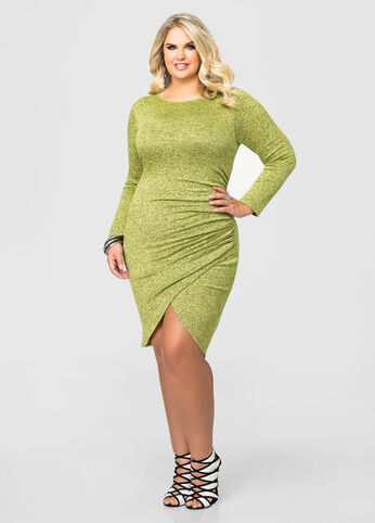 Tulip Hem Sweater Dress