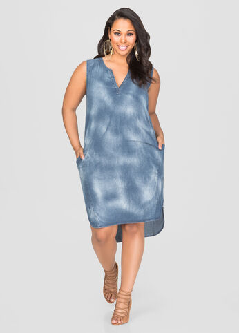 Hi-Lo Denim Dress