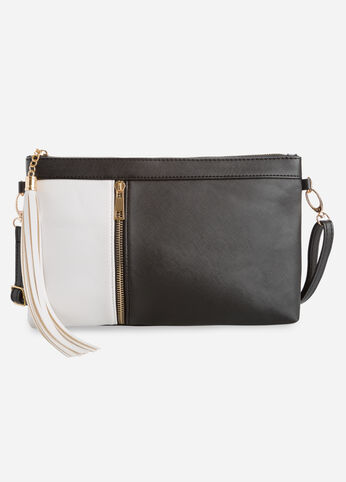Two-Tone Convertible Shoulder Bag