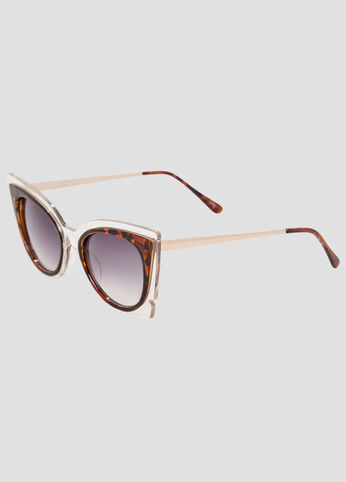Clear Tortoise Cat Eye Sunglasses