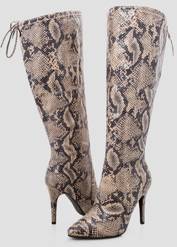 Sleek Snake Over The Knee Boot - Wide Width Wide Calf