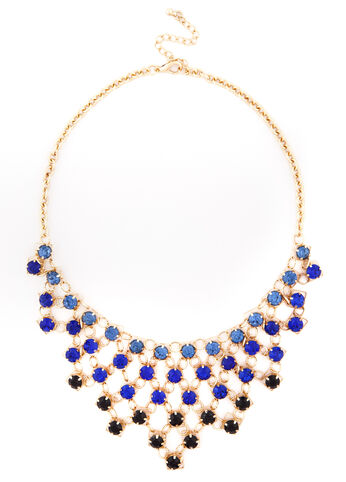 Crystal Bib Front Necklace