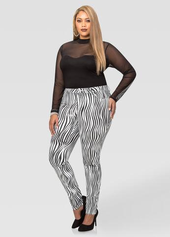 Zebra Print Skinny Pant