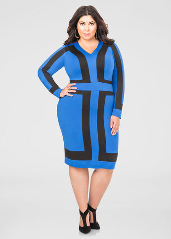 Bold Blocked Sheath Dress