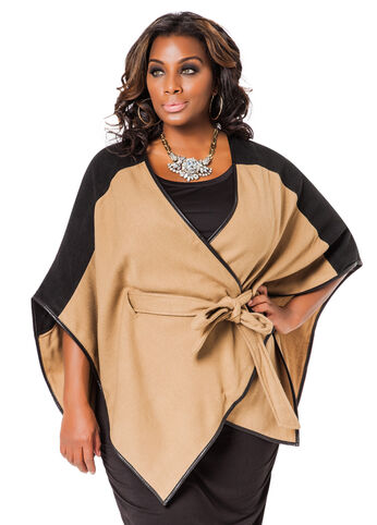 Belted Two-Tone Wrap