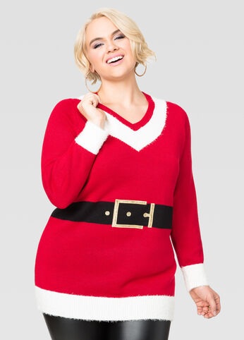 Santa Suit Tunic Holiday Sweater
