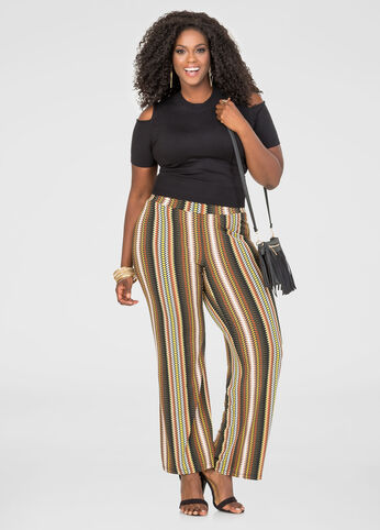 Multi Color Geo Palazzo Pant