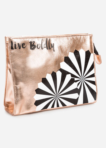 Live Boldly Metallic Make-Up Bag