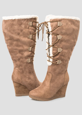 Shearling Lined Tall Boot - Wide Calf, Wide Width