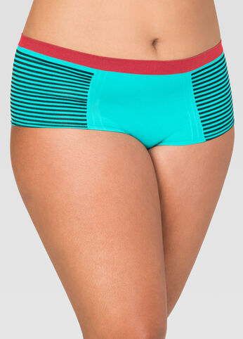 Seamless Striped Boyleg Panty