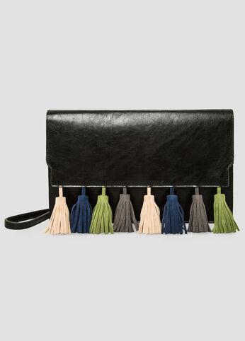 Microsuede Tassel Crossbody Bag