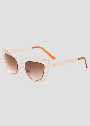 Geo Cut-Out Cat Eye Sunglasses