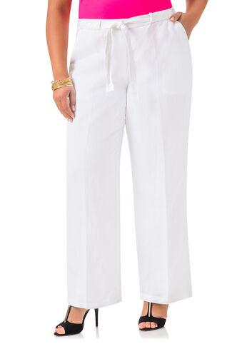 Linen Braided Belt Pants