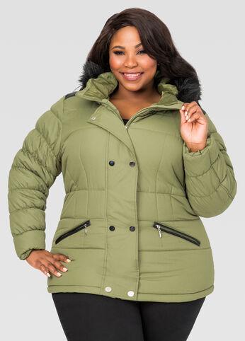 Short Puffer Winter Coat