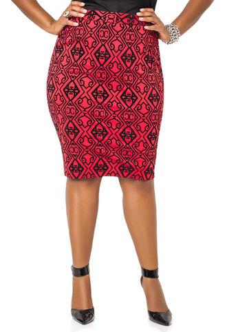 Scuba Skirt with Flocking